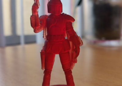 Boba Fett red resin